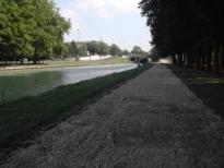 Reims La coulée verte, les aménagements des bords de Vesle