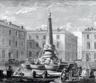 Reims,Fontaine place du Marché au Blé