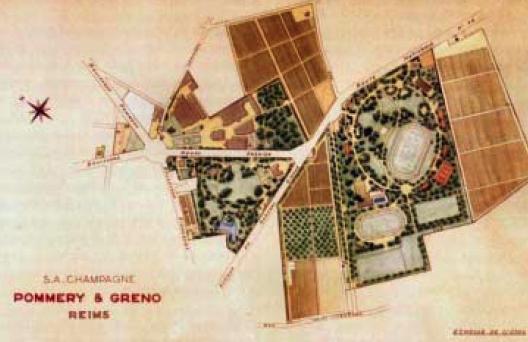 Domaine Pommery au début du XXè siècle
